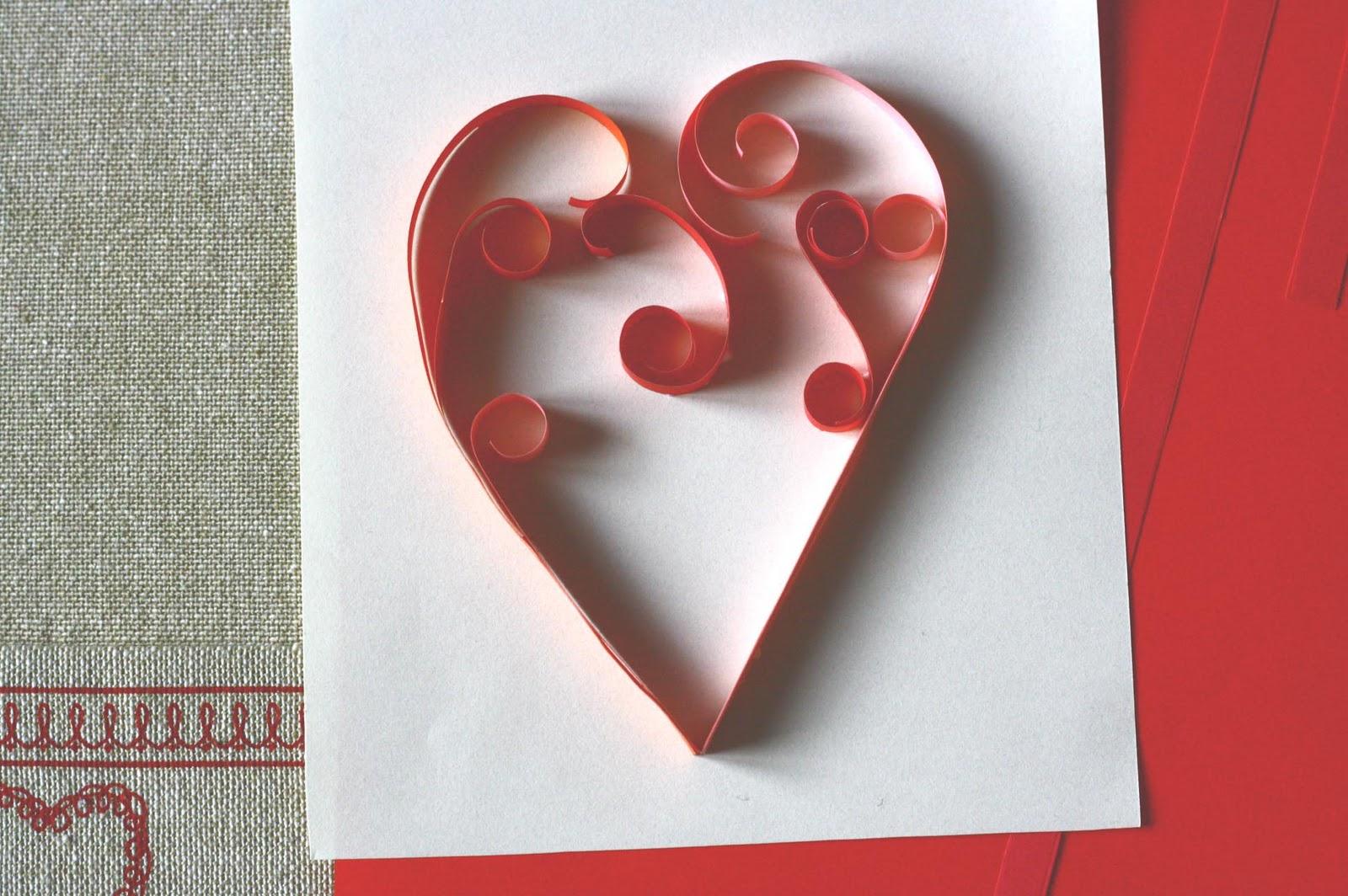 Сердечки на открытку маме