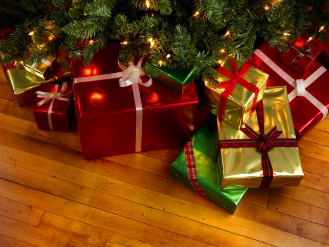 Новый год елка подарки дети
