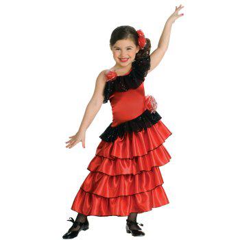Детский новогодний костюм испанки