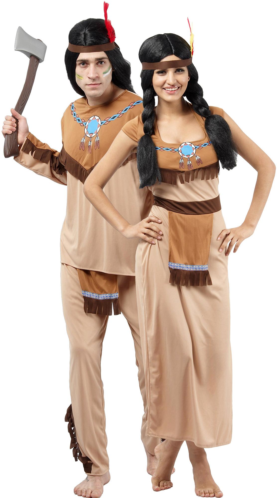Индеец и индианка - костюмы для пар