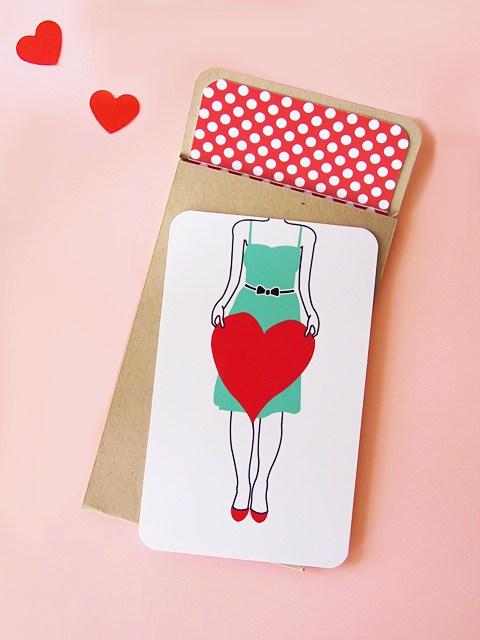 Как быстро сделать красивую валентинку ко Дню Святого Валентина