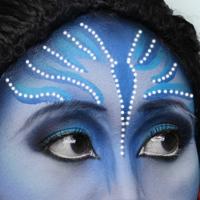 Фото макияжа Аватар на Хэллоуин
