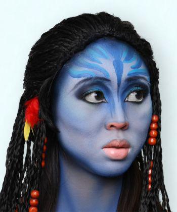 Как сделать макияж Нейтири из Аватара?  03.10.13 19:06.  Это нравится.  Войдите в совершенно другой мир.