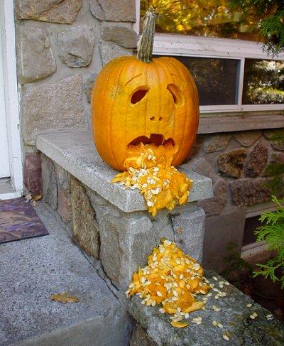 Фото как сделать тыкву для Хэллоуина