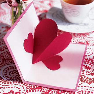 Как сделать валентинку с 3D сердечком ко Дню Влюблённых – пошаговая инструкция с фото