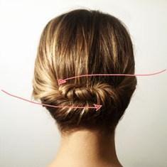 Закрепить волосы