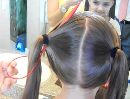 Как сделать сердечки из волос 791