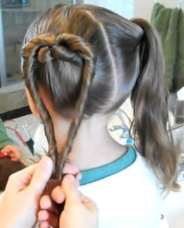 Как сделать сердечки из волос 473