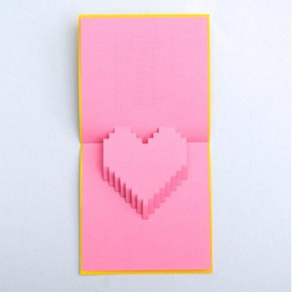 Как сделать объемное сердце для открытки 40