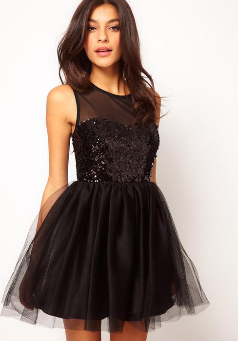 Черное вечернее платье короткое фото