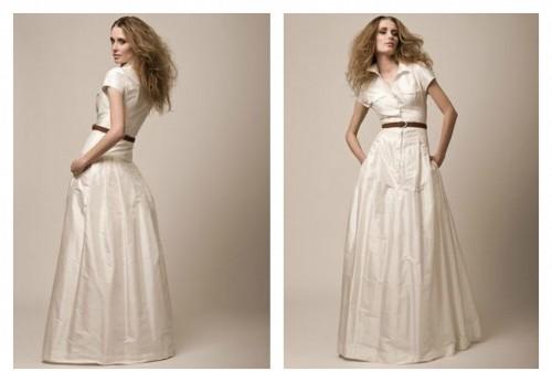 ROSE-свадебное платье с воротником