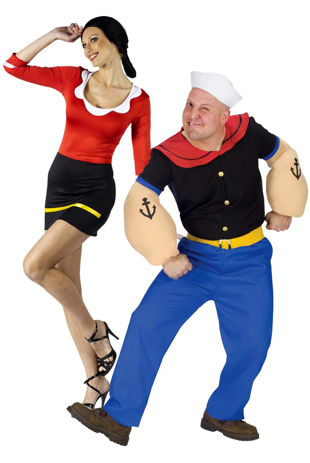 Костюм моряка Папая и его возлюбленной Сюзи