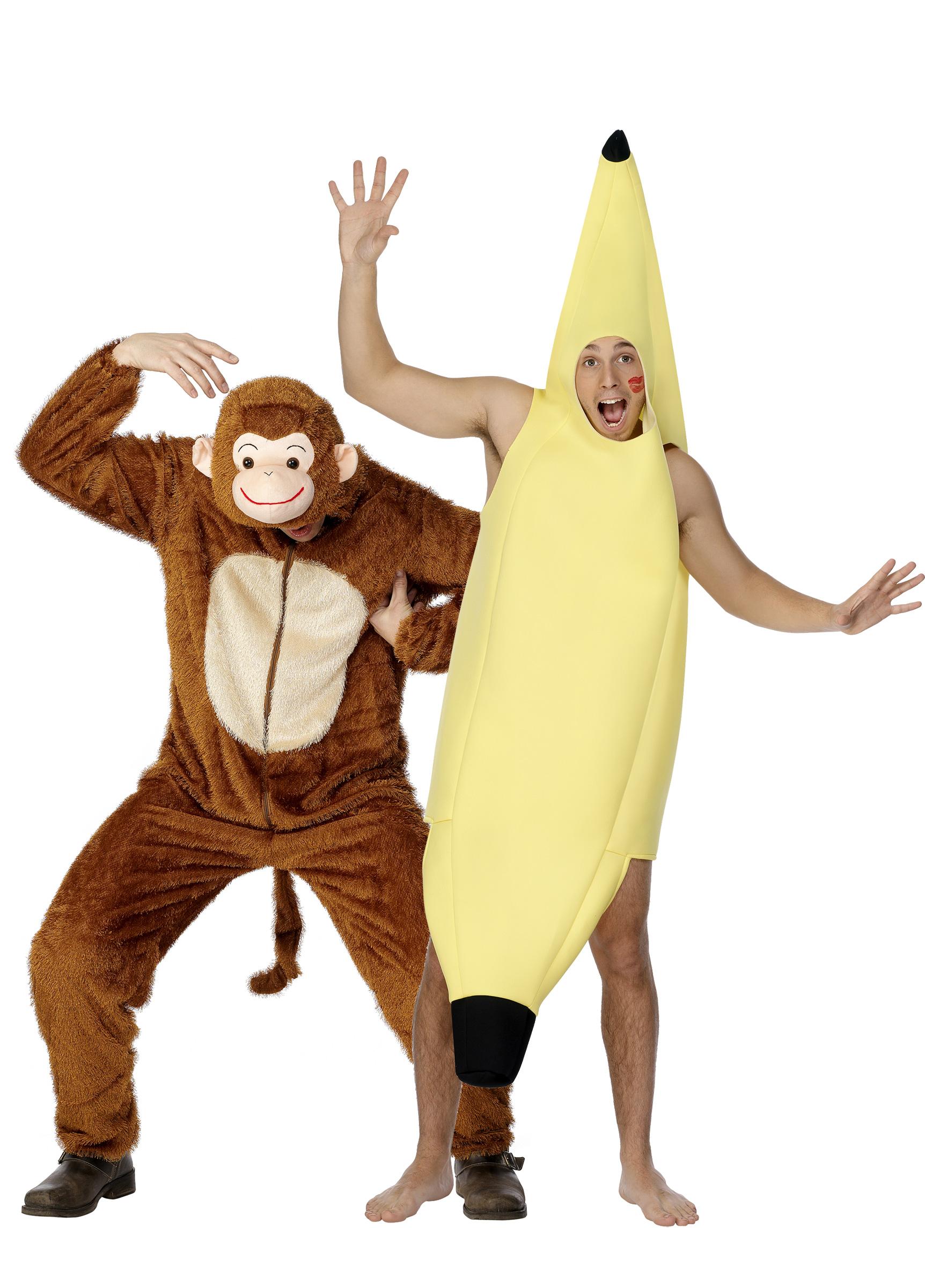Костюм обезьяны и банана для пары