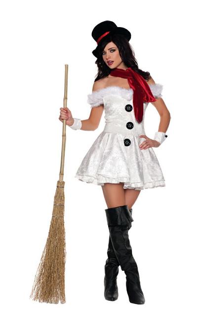 Костюм снеговика для девушки