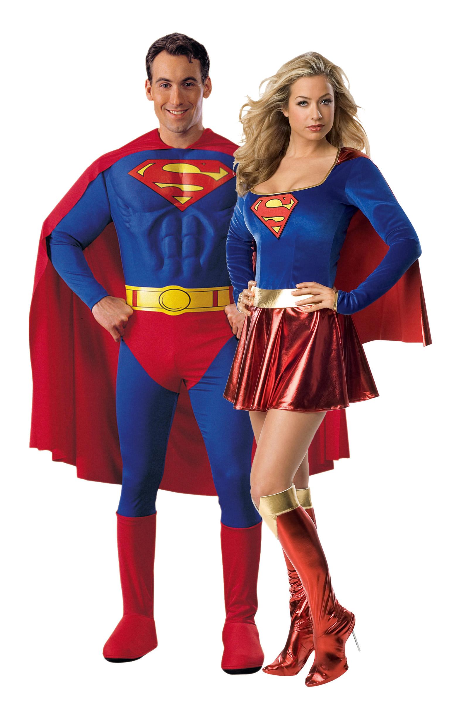 Костюм Супердевочки и Супермена для пары