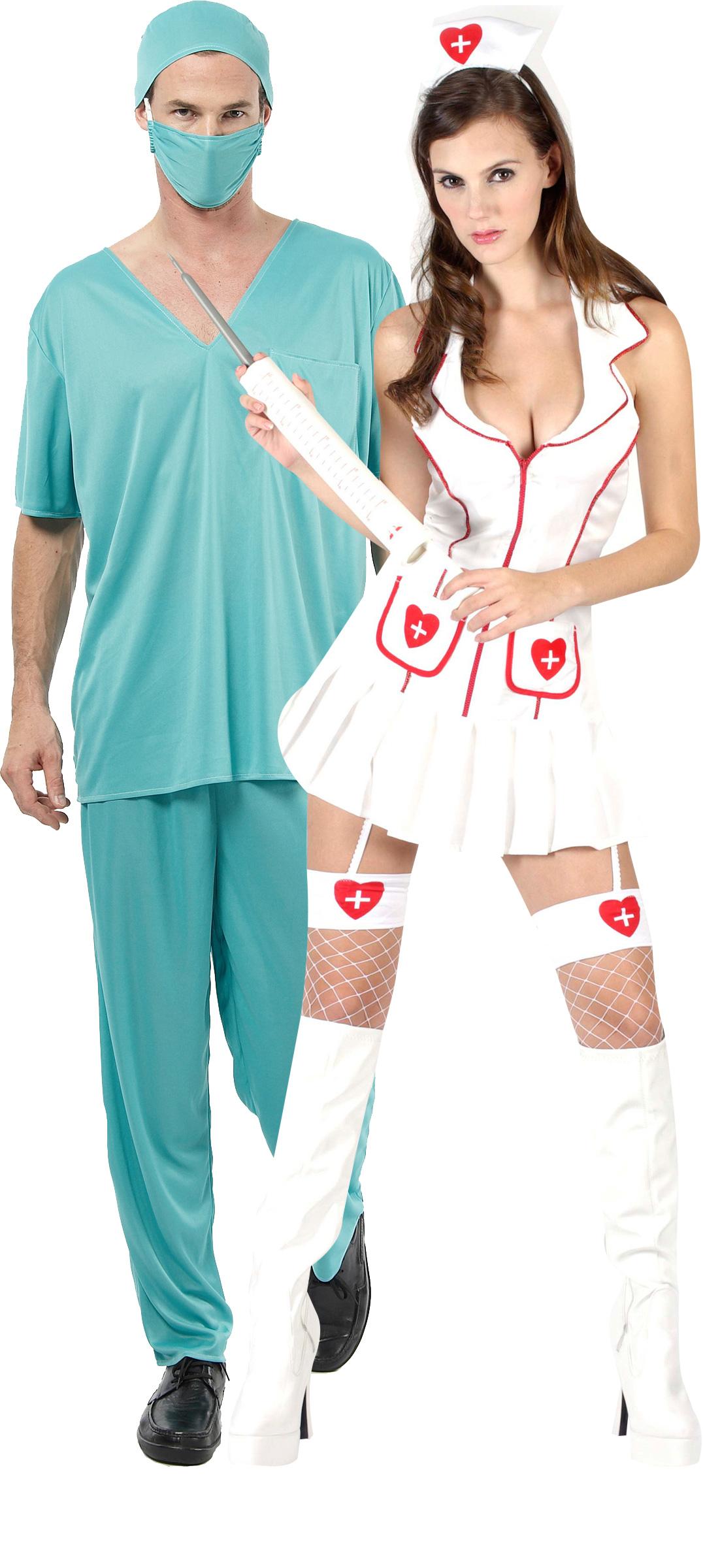 Костюм врача и медсестры для новогодней вечеринки