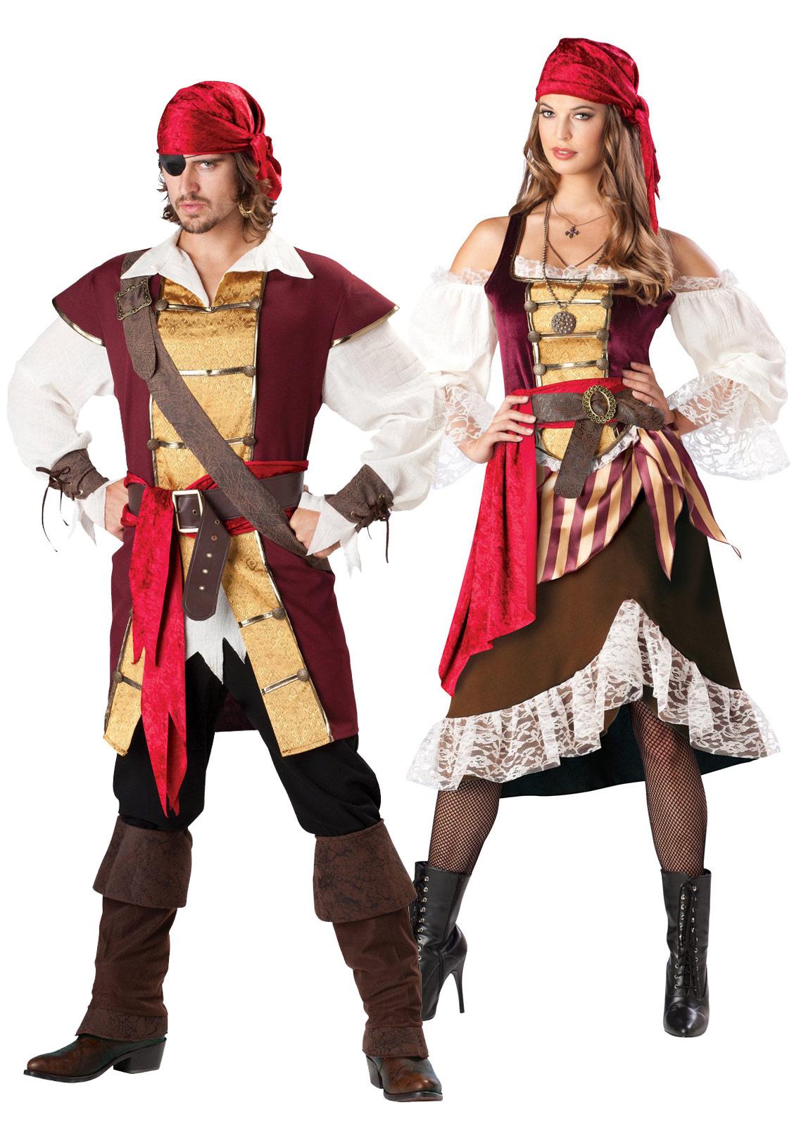 Костюмы пиратов для мужчины и женщины