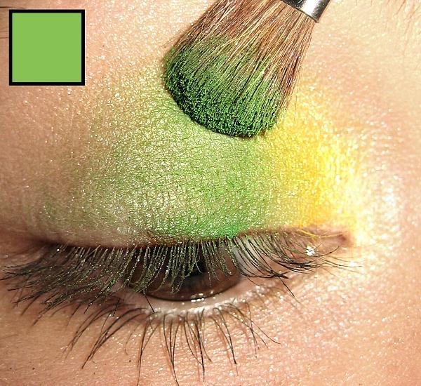 Тени сочного зеленого цвета