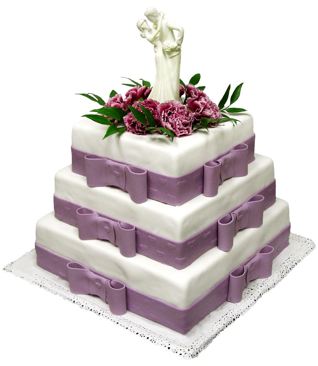 Квадратный торт для свадьбы