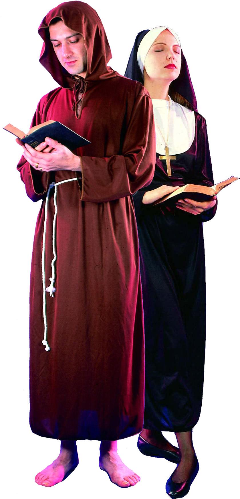 Монахиня и монах - Взрослые костюмы для пары на карнавальную вечеринку