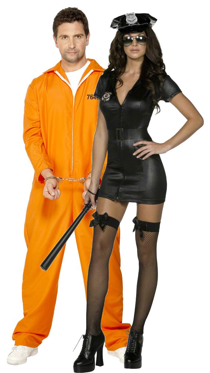 Новогодний костюм для взрослых Полицейского и Заключенного