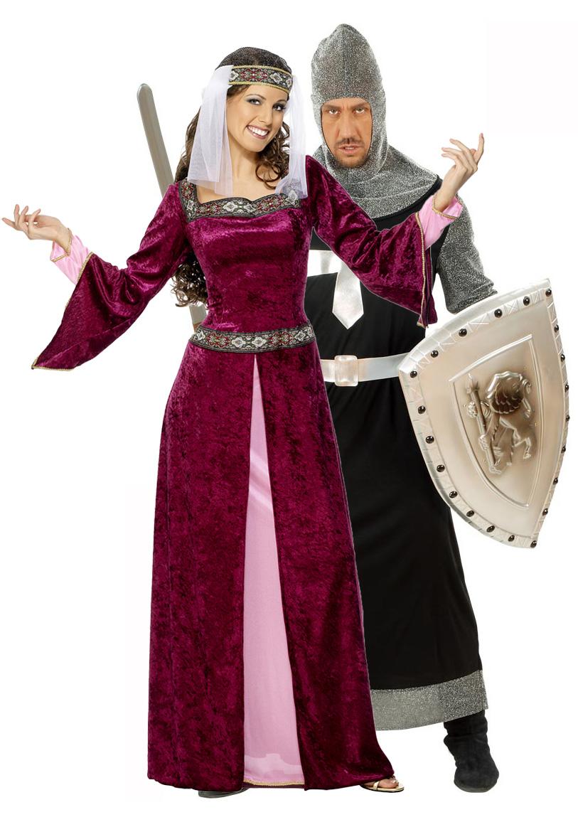 Новогодний костюм для взрослых - Рыцарь и Принцесса