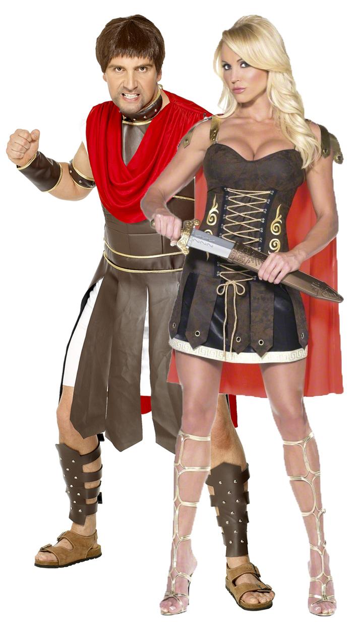 Новогодний костюм гладиаторов для пар