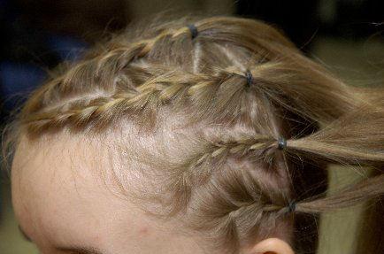 Хвостик из волос