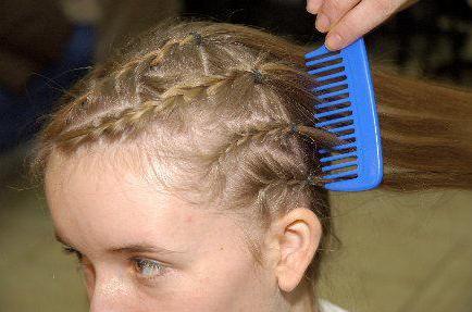 Волосы в хвостик