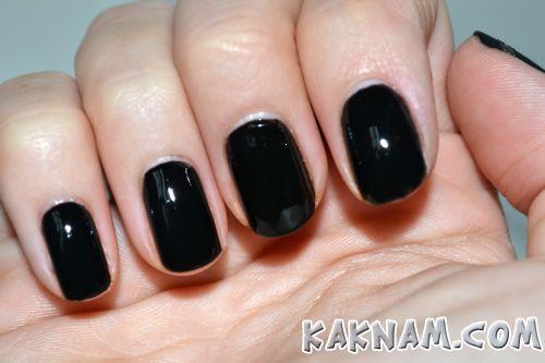 Черный маникюр-3