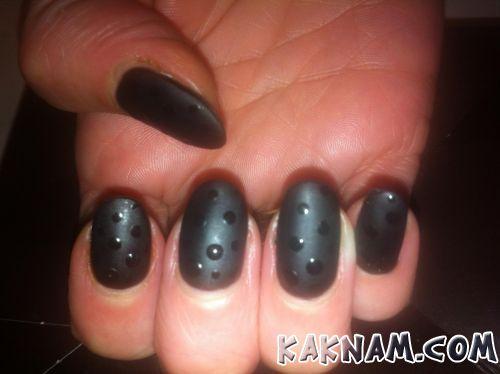 Черный маникюр-4