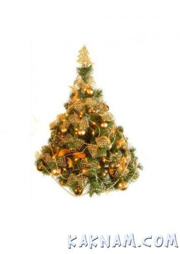 Фото, как украсить елку на Новый Год 2014-3