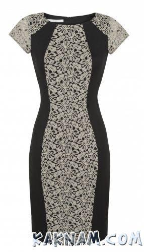 Фото черного платья с кружевом
