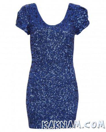 Фото темно-синего платья на Новый Год 2014