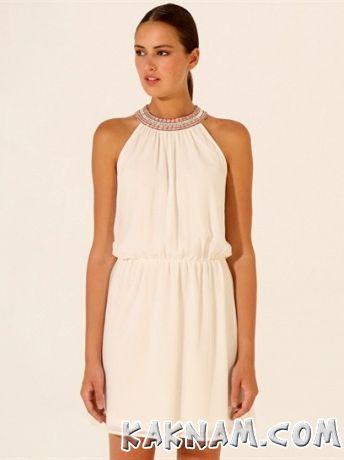 Фото белого платья с колье