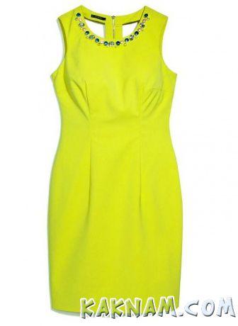 Фото желтого новогоднего платья
