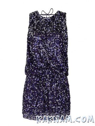 Фото синего платья на Новый Год