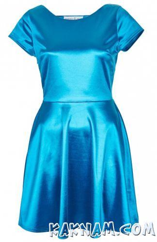 Фото атласного платья на Новый Год 2014