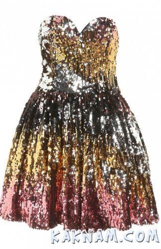 Фото короткого платья с блестками