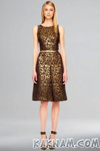 Фото золотистого платья