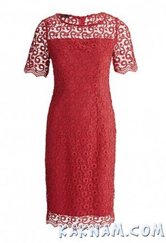 Фото бордового кружевного платья
