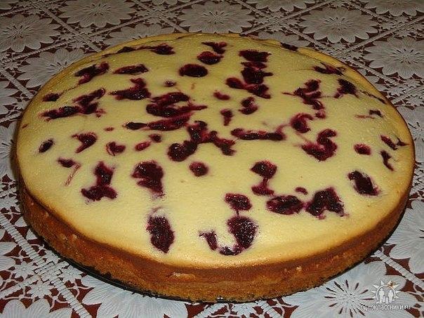 Пирог с ягодами и творогом в духовке рецепт с