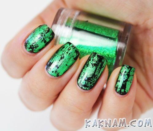 Зеленый маникюр-2