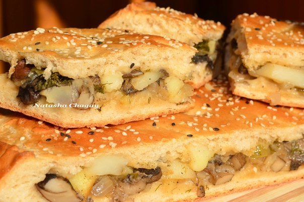 Пироги с грибами в духовке пошаговый рецепт