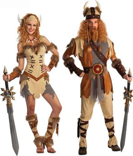 Принцесса викингов и Викинг - костюм для пары