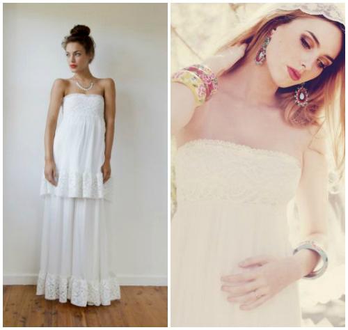 Фото романтичного свадебного платья в крестьянском стиле «Shantel»
