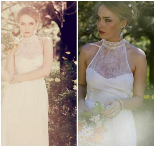 Фото романтичного свадебного платья в крестьянском стиле «Vivienne»