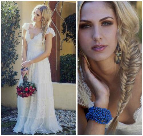 Фото романтичного свадебного платья в крестьянском стиле «Charlotte»