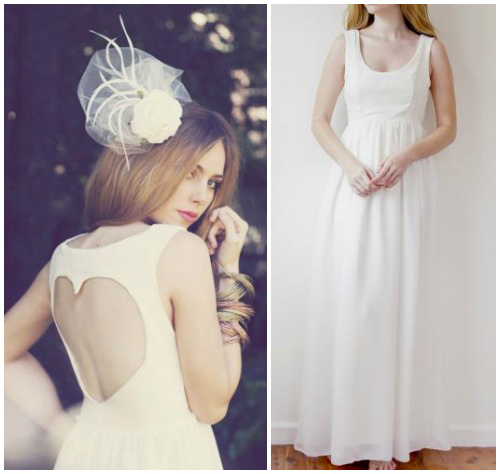 Фото романтичного свадебного платья в крестьянском стиле «Chloe»