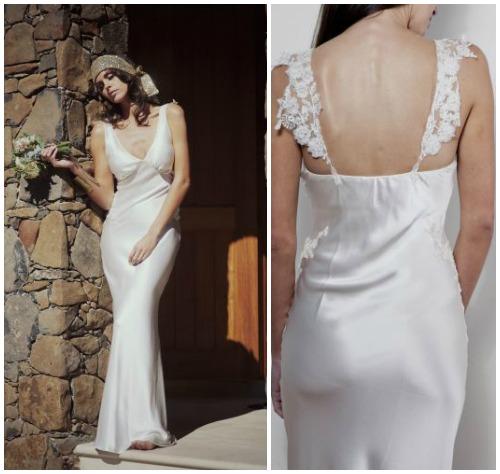 Фото романтичного свадебного платья в крестьянском стиле «Alexandra»